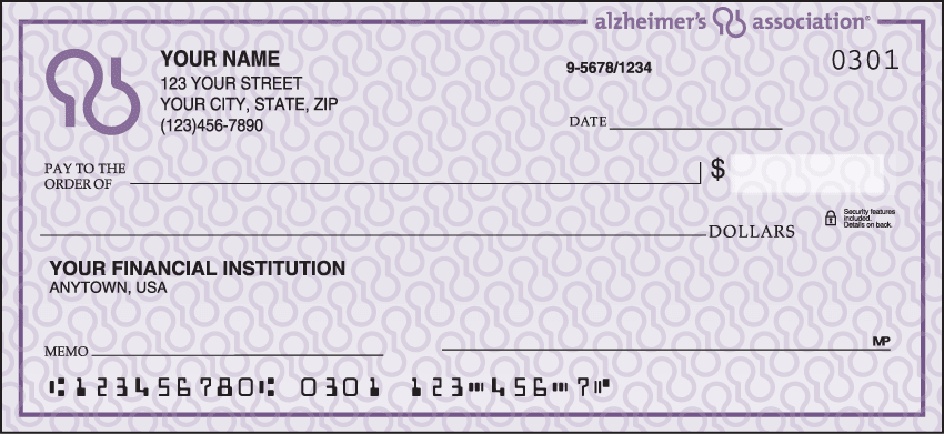 Alzheimer's Association Checks - click to view larger image