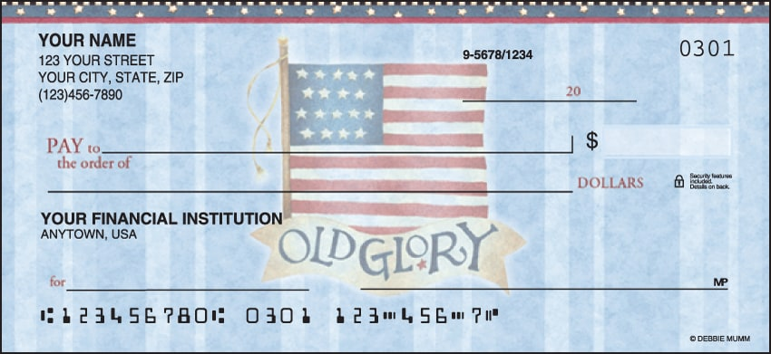 America the Beautiful Checks - click to view larger image