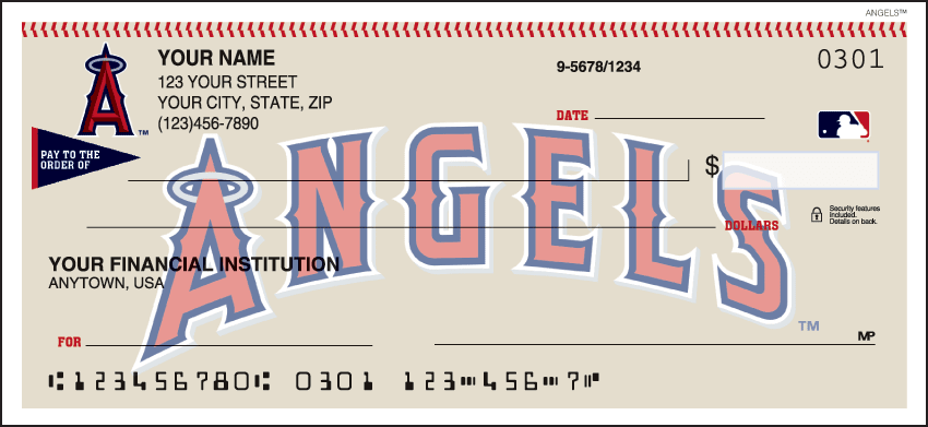 Los Angeles Angels of Anaheim¿ Checks - click to view larger image