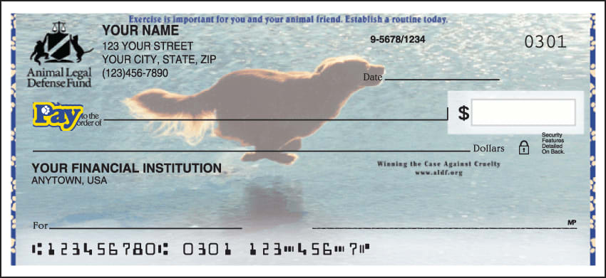 Animal Legal Defense Fund Checks - click to view larger image