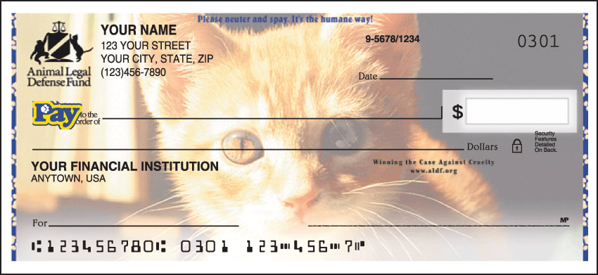 animal legal defense fund checks - click to preview