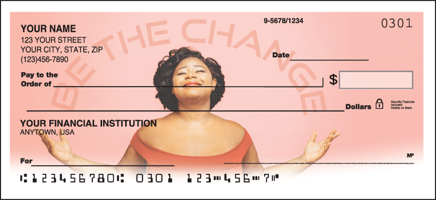 Be The Change Checks - click to view larger image