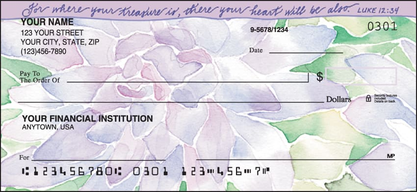 Beautiful Blessings Checks - click to view larger image