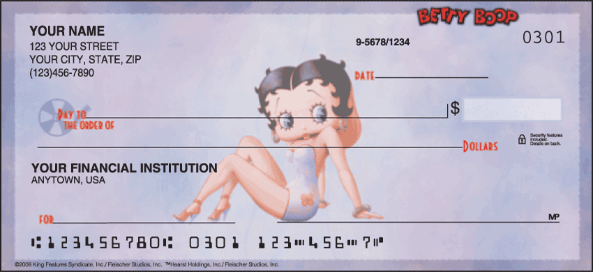 betty boop - just say boop checks - click to preview
