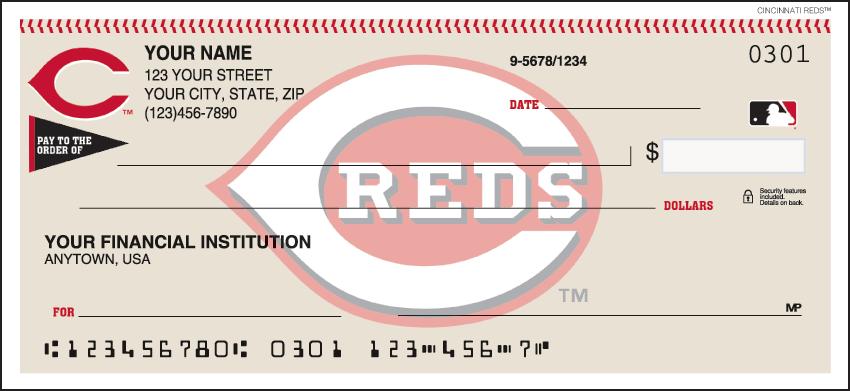 Cincinnati Reds¿ Checks - click to view larger image