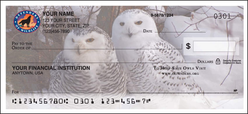 Defenders of Wildlife Owls Checks - click to view larger image