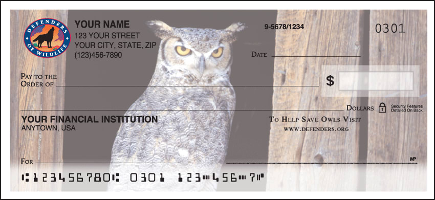 defenders of wildlife owls checks - click to preview