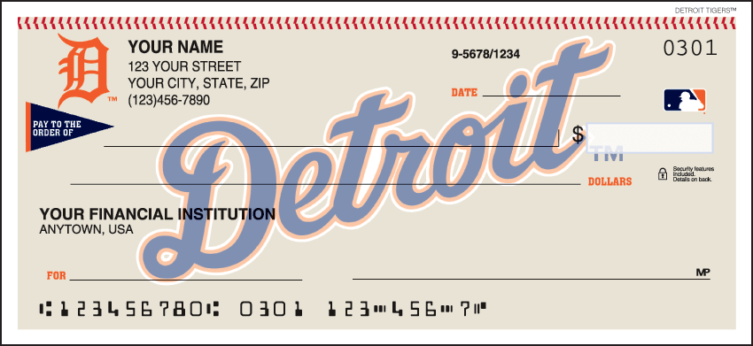 Detroit Tigers¿ Checks - click to view larger image