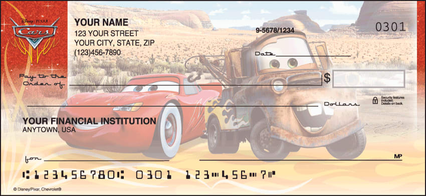Disney Pixar Cars Checks - click to view larger image