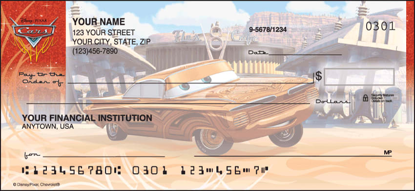 disney pixar cars checks - click to preview