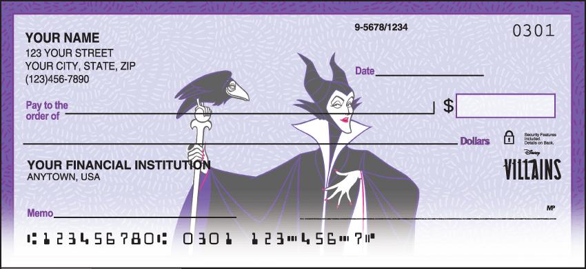 disney villains checks - click to preview