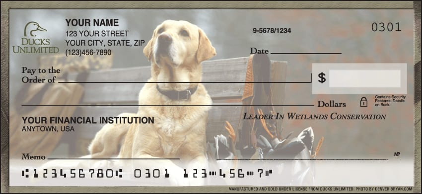 Ducks Unlimited Checks - click to view larger image