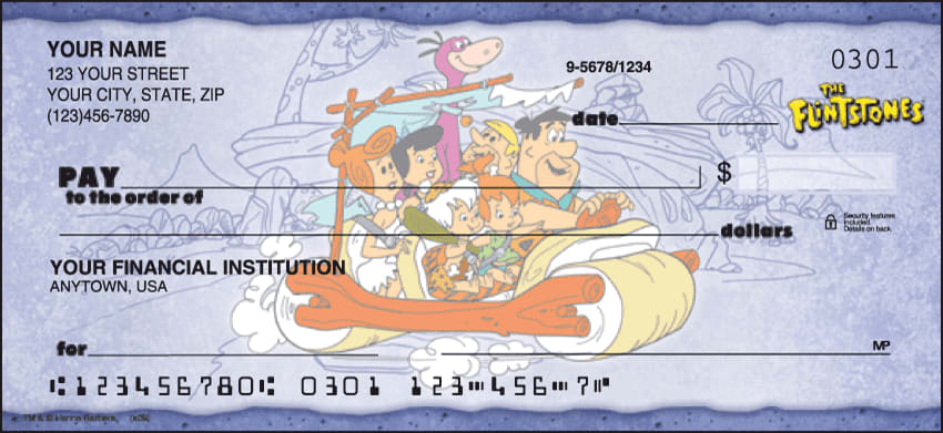 The Flintstones Checks - click to view larger image