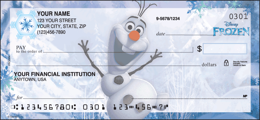 Disney Frozen Checks - click to view larger image