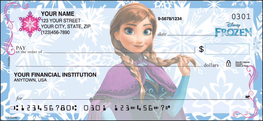 Enlarged view of Disney Frozen Checks