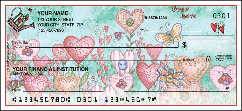 Garden of Faith Checks - click to view larger image