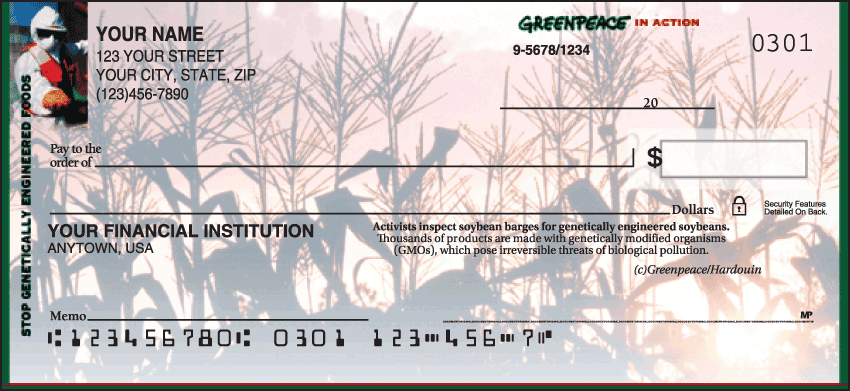 Greenpeace In Action Checks - click to view larger image