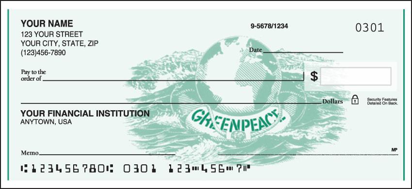Greenpeace Logo Checks - click to view larger image