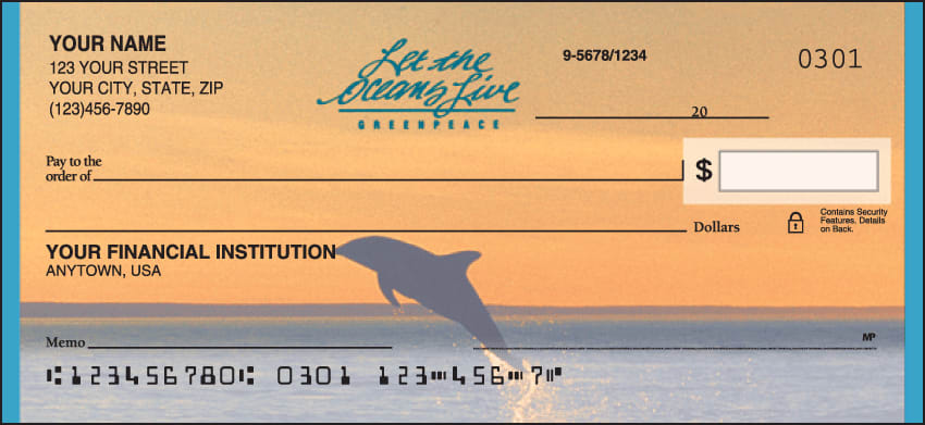 Greenpeace Let Oceans Live Checks - click to view larger image