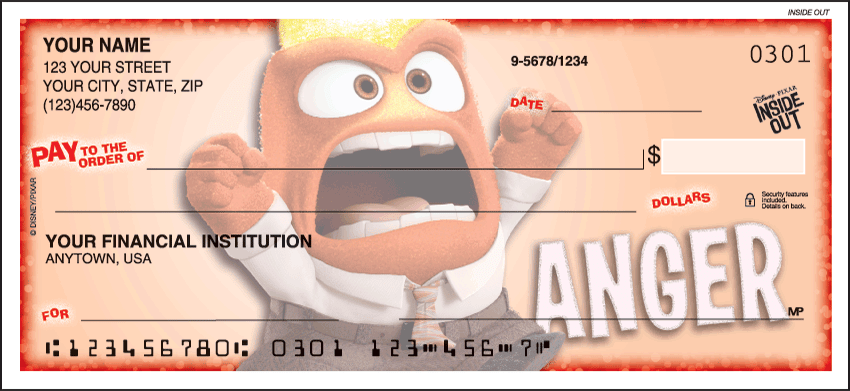 Disney Pixar Inside Out Checks - click to view larger image