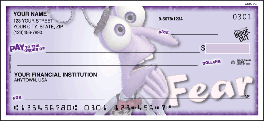 disney pixar inside out checks - click to preview