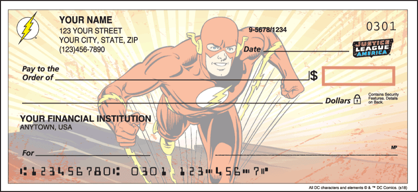The Justice League Checks - click to preview