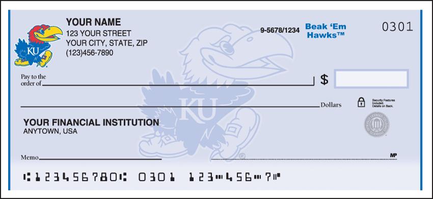 Kansas Logo Checks - click to view larger image