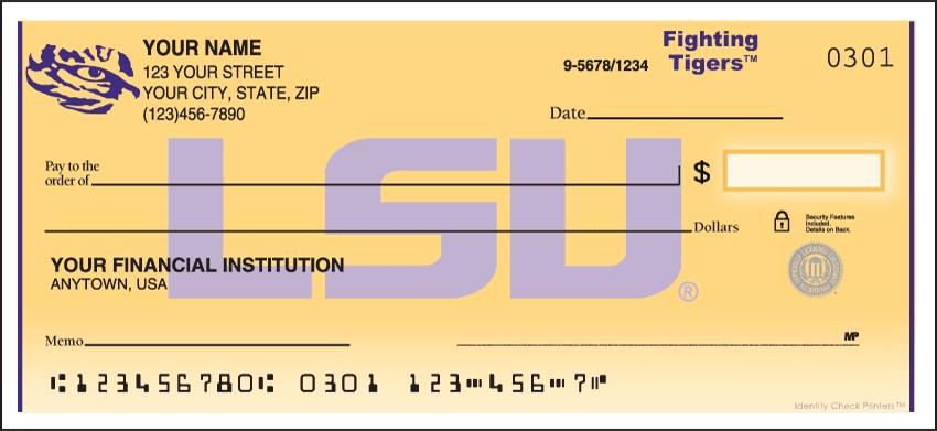 LSU Logo Checks - click to view larger image