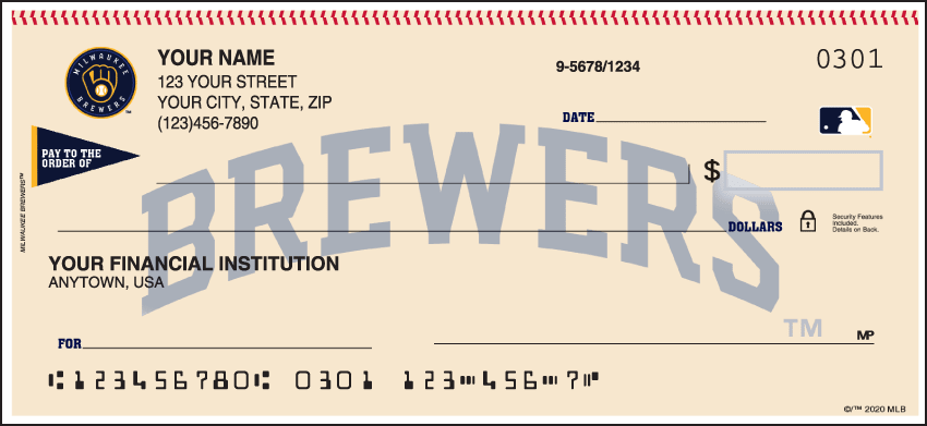 Milwaukee Brewers¿ Checks - click to view larger image