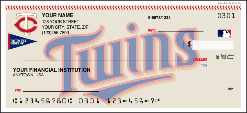 Minnesota Twins¿ Checks - click to view larger image