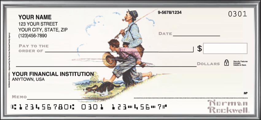 norman rockwell checks - click to preview