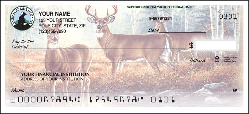National Wildlife Federation Checks - click to view larger image