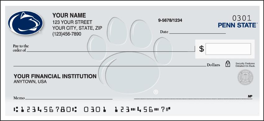 Penn State Logo Checks - click to view larger image
