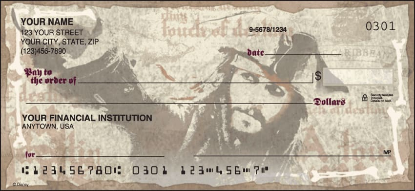Disney Pirates of the Caribbean Checks - click to view larger image