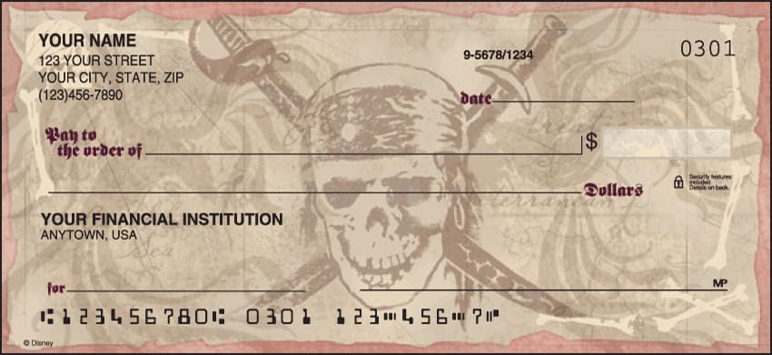 Disney Pirates of the Caribbean Checks - click to preview