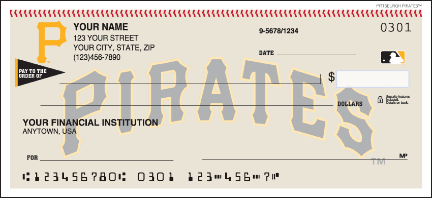 Pittsburgh Pirates¿ Checks - click to view larger image