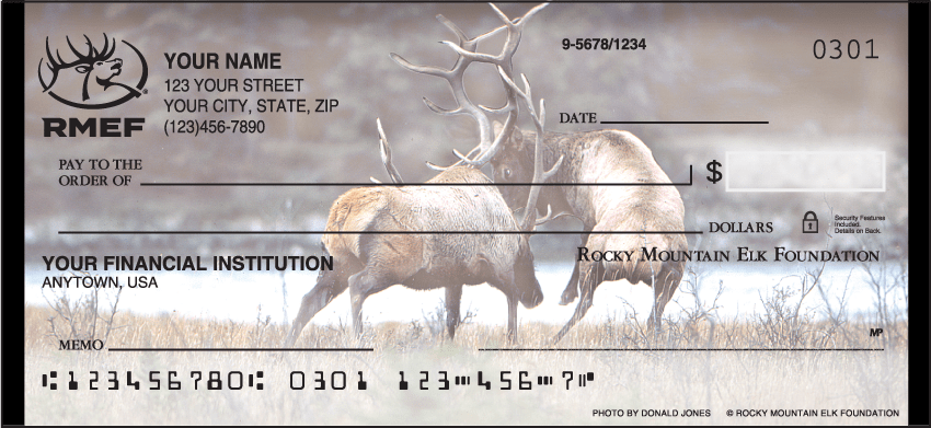 Rocky Mountain Elk Foundation Checks - click to view larger image