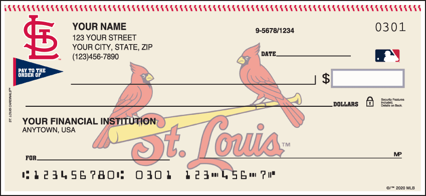St. Louis Cardinals¿ Checks - click to view larger image