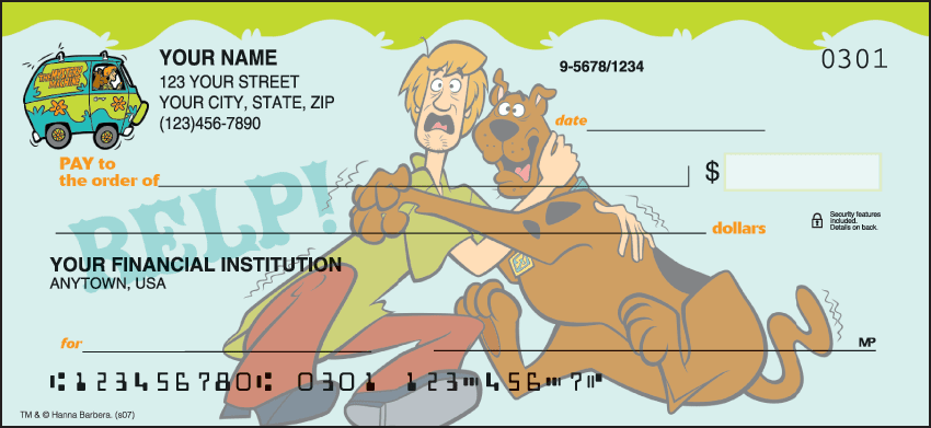 scooby dooby doo checks - click to preview