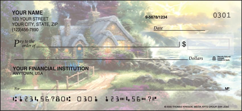 serenity by thomas kinkade checks - click to preview