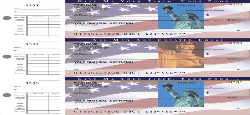 Stars & Stripes Desk Set Checks - click to view larger image