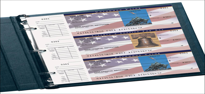 Stars & Stripes Desk Set Checks - click to preview