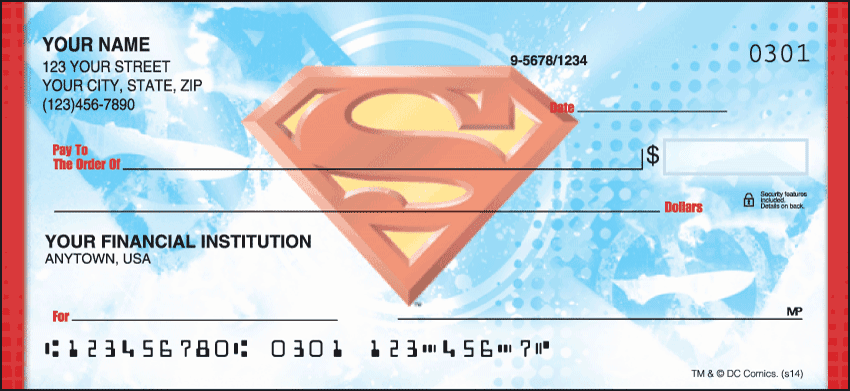 superman checks - click to preview