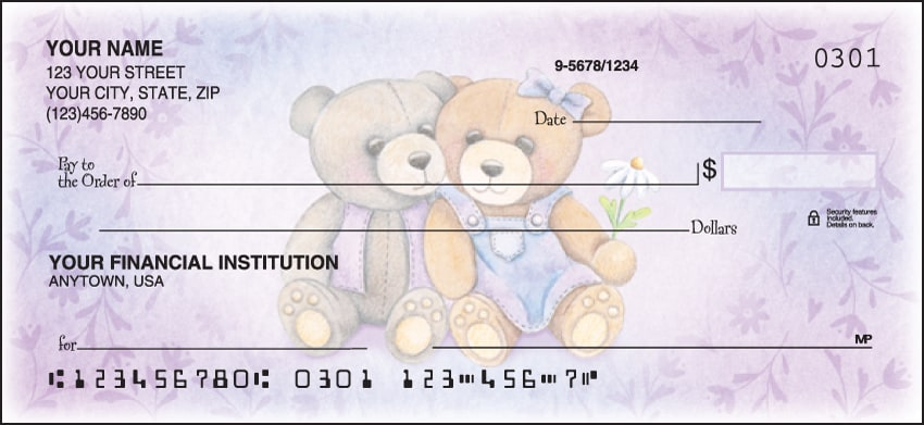 Enlarged view of teddy bears checks