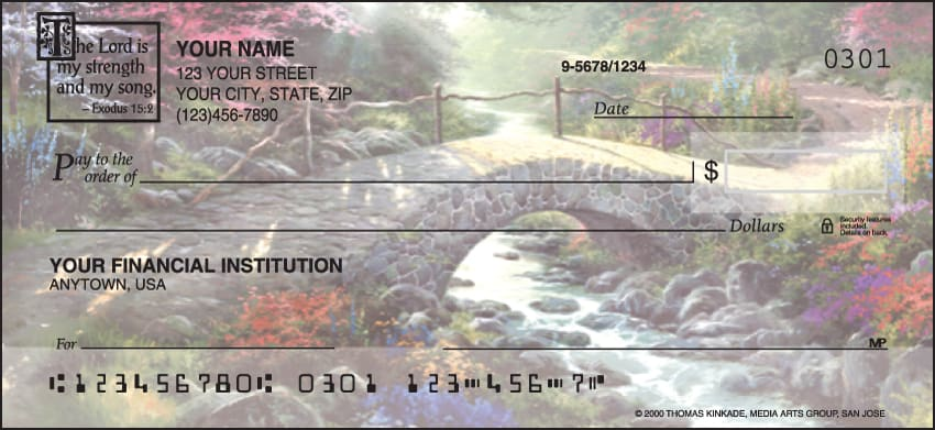 Serenity by Kinkade with Verse Checks - click to view larger image
