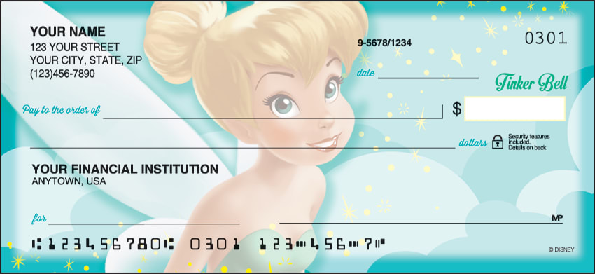 Disney Tinker Bell Checks - click to view larger image