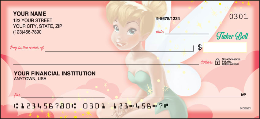 disney tinker bell checks - click to preview