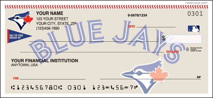 Toronto Blue Jays¿ Checks - click to view larger image