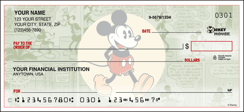 Enlarged view of disney vintage mickey checks