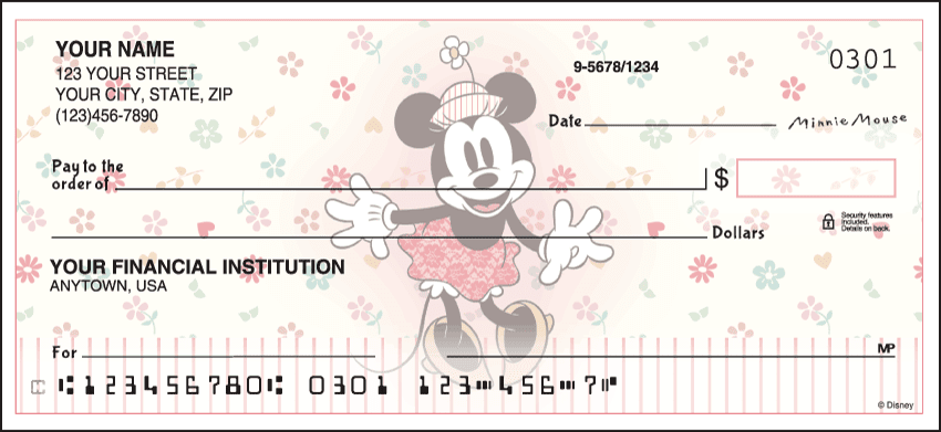 Disney Vintage Minnie Checks - click to view larger image
